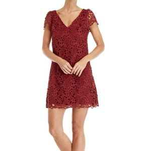 Club Monaco Muted Red Lace Dress (Size 2)